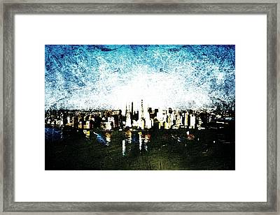 Future Skyline Framed Print by Andrea Barbieri