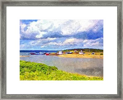 Gabarus Cape Breton Nova Scotia Fishing Village Framed Print by Shawna Mac
