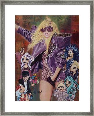 Gaga And The Seven Monsters Framed Print by Stapler-Kozek