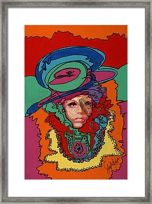 Gaga To The Max Framed Print by Stapler-Kozek