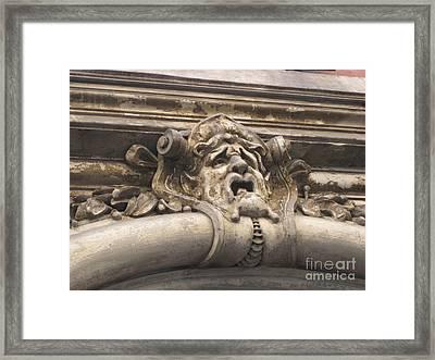 Gaging Choking Framed Print by John Malone