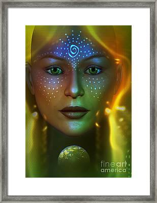 Gaia 2 Framed Print by Shadowlea Is