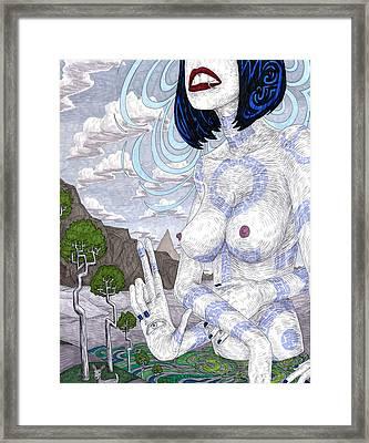 Gaia Framed Print by Jeremy Baum