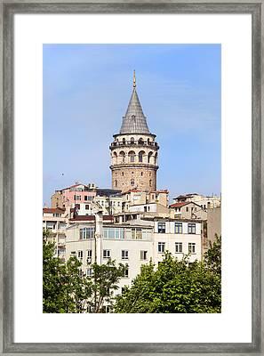 Galata Tower In Istanbul Framed Print by Artur Bogacki