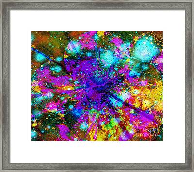 Galaxie Des Sages - Galaxy Of The Wise Framed Print by Fania Simon