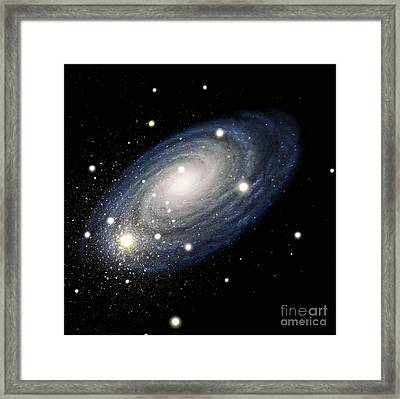 Galaxy Framed Print by Atlas Photo Bank and Photo Researchers