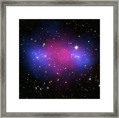 Galaxy Cluster Collision, X-ray Image Framed Print by Nasaesacxcstscim. Bradac And S. Allen