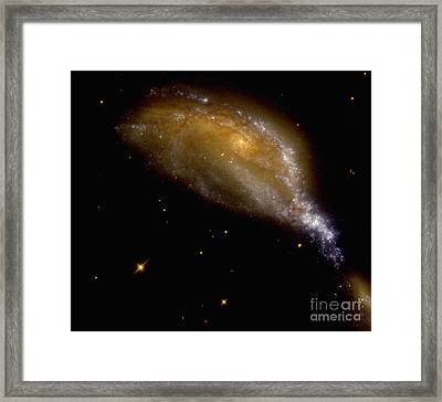 Galaxy Collision In Ngc 6745 Framed Print by Nasa