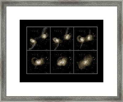 Galaxy Collision Model Framed Print by Max Planck Institute For Astrophysics