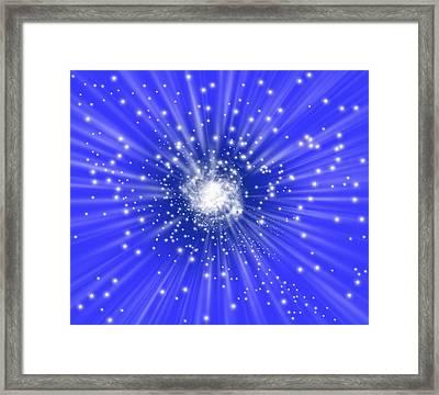 Galaxy Formation, Computer Artwork Framed Print by Mehau Kulyk