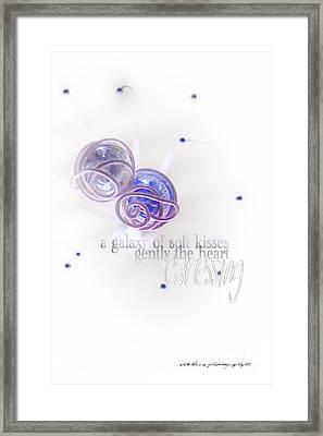 Galaxy Of Love Framed Print by Vicki Ferrari Photography