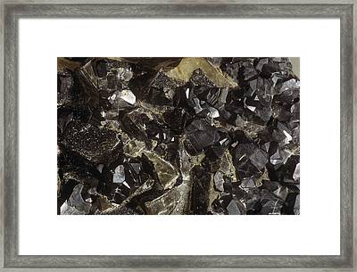 Galenite And Fluorite Minerals Framed Print by Dirk Wiersma