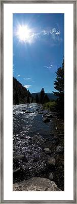 Gallatin River Framed Print by Ken Peterson