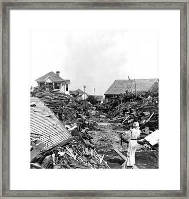 Galveston Flood Debris - September - 1900 Framed Print by International  Images