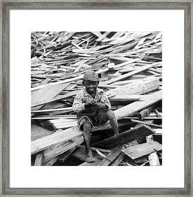 Galveston Flood Survivor - September - 1900 Framed Print by International  Images