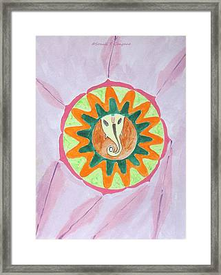 Ganesh Mandala Framed Print by Sonali Gangane