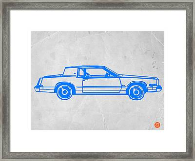 Gangster Car Framed Print by Naxart Studio