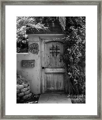 Garden Doorway 2 Framed Print by Perry Webster