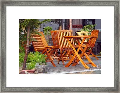 Garden Furniture Framed Print by Yali Shi