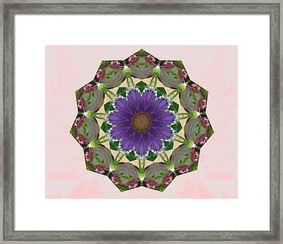 Garden Mandala... Framed Print by Rene Crystal