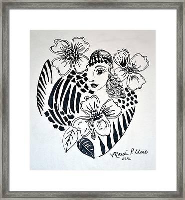 Garden Of Eve Framed Print by Maria Urso