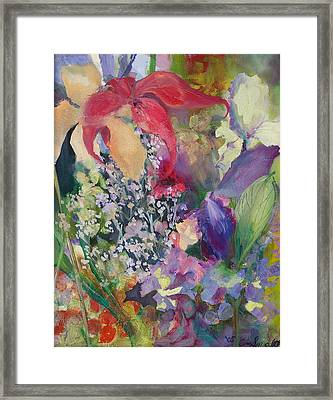 Garden Party Framed Print by Claudia Smaletz