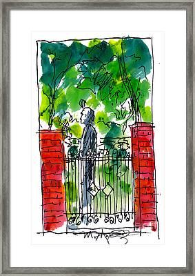 Garden Philadelphia Framed Print by Marilyn MacGregor