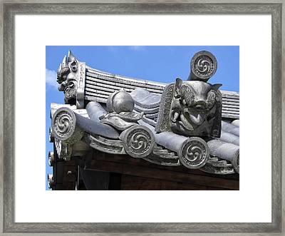 Gargoyles Of Horyu-ji Temple - Nara Japan Framed Print by Daniel Hagerman