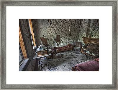Garnet Ghost Town Hotel Parlor - Montana Framed Print by Daniel Hagerman