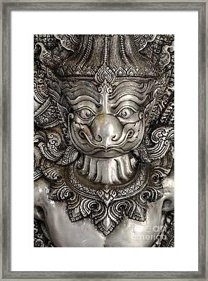 Garuda Silver Framed Print by Panupong Roopyai