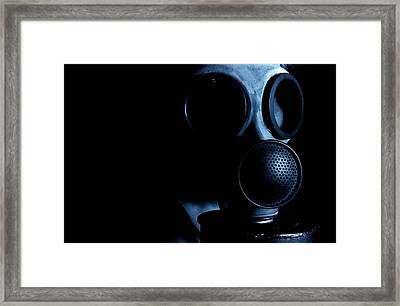 Gas Mask Framed Print by Neal Grundy