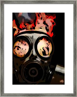 Gas Mask Framed Print by Rpics Rpics