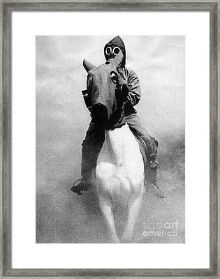 Gas Masks Framed Print by Science Source