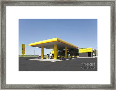 Gas Station Framed Print by Jaak Nilson