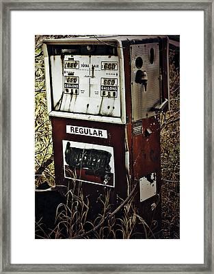 Gaspump  Framed Print by Jerry Cordeiro