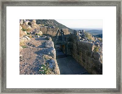 Gate Of The Lions Framed Print by Andonis Katanos