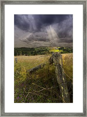 Gate To Heaven Framed Print by Debra and Dave Vanderlaan
