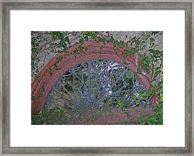 Gate To The Courtyard Framed Print by Patricia Taylor