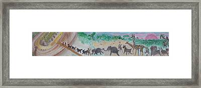 Gathering Earth Specimens At Twilight Framed Print by Jay Manne-Crusoe