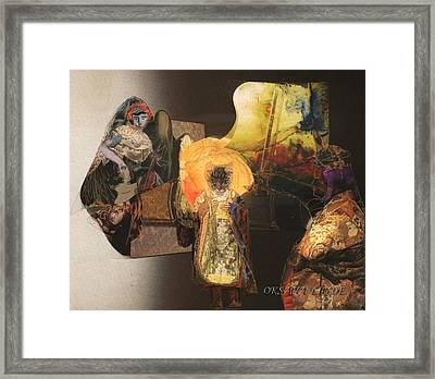Gathering Framed Print by Oksana Linde