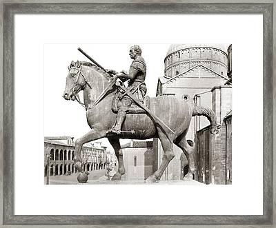 Gattamelata (1370-1443) Framed Print by Granger