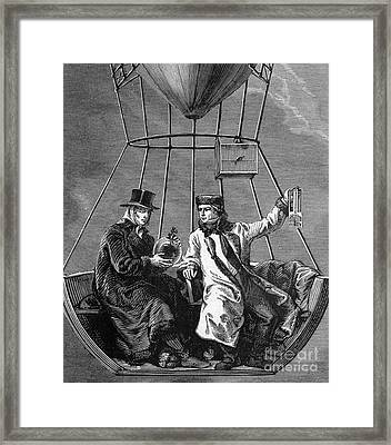 Gay-lussac And Jean-baptiste Biot, 1804 Framed Print by Science Source