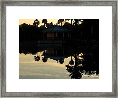 Gazebo Framed Print by Charlie Spear