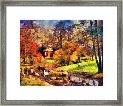 Gazebo In The Park Framed Print by Jai Johnson
