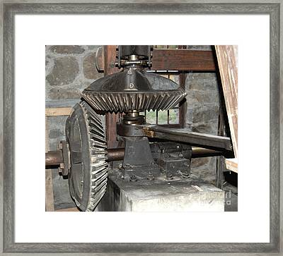 Gears Of The Old Grist Mill Framed Print by John Small