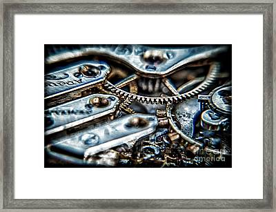 Gears Of Time Framed Print by Noah Graham