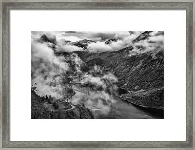 Geiranger Fjord Framed Print by A A