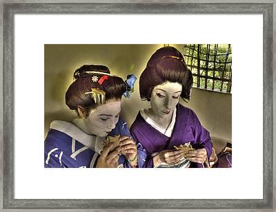 Geisha Lunch Framed Print by William Fields