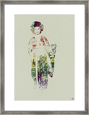 Geisha Framed Print by Naxart Studio