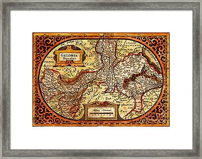 Geldria Ducatus Map Framed Print by Pg Reproductions